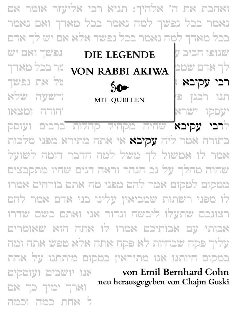 Die Legende von Rabbi Akiwa als eBook