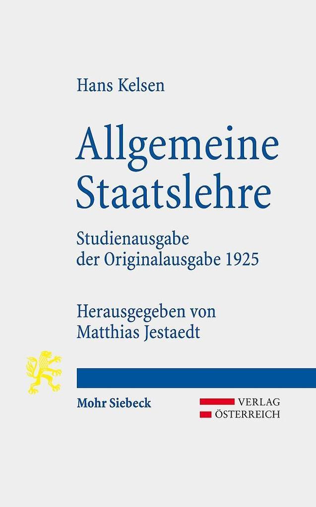 Allgemeine Staatslehre als Buch (kartoniert)