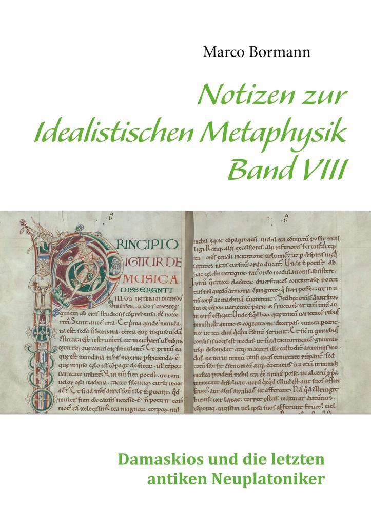 Notizen zur Idealistischen Metaphysik VIII