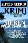 Krimi Sammelband 7001 - Sieben Urlaubs-Krimis Juli 2019
