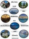 Bodenseeorte aus Deutschland, Schweiz und Österreich.