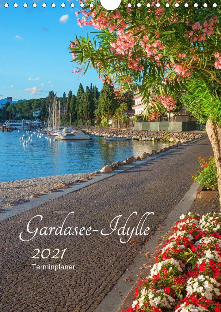 Gardasee Idylle 2021 (Wandkalender 2021 DIN A4 hoch)
