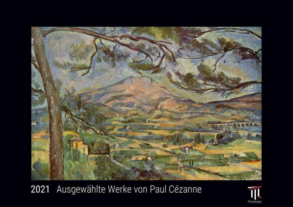 Ausgewählte Werke von Paul Cézanne 2021 - Black Edition - Timokrates Kalender Wandkalender Bildkalender - DIN A3 (42 x 30 cm)