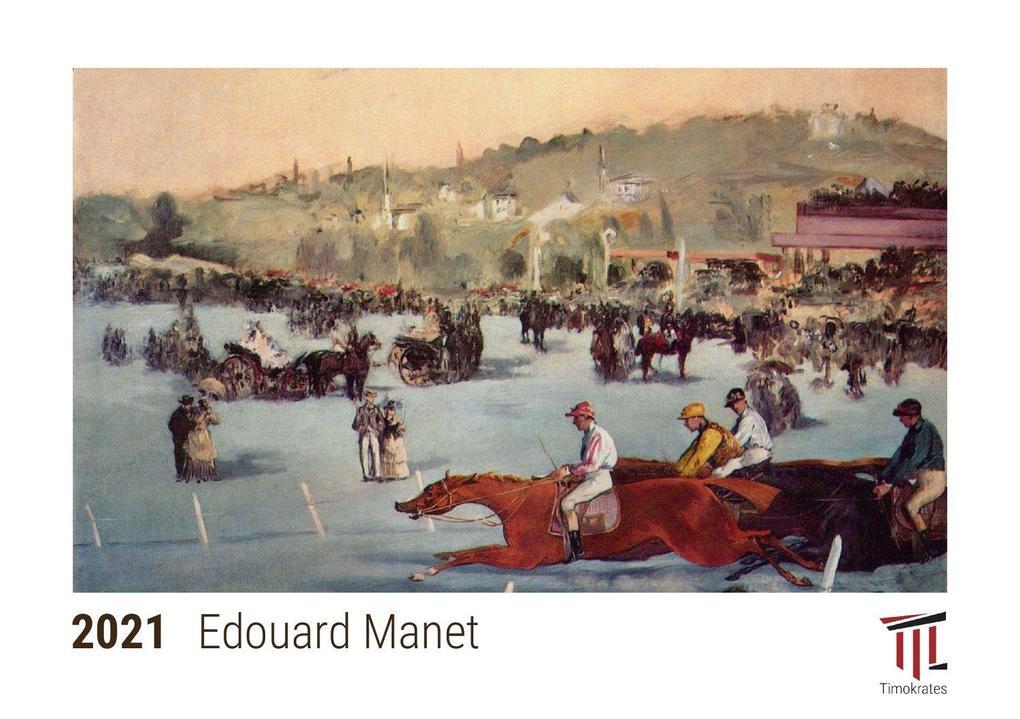 Edouard Manet 2021 - Timokrates Kalender Tischkalender Bildkalender - DIN A5 (21 x 15 cm)