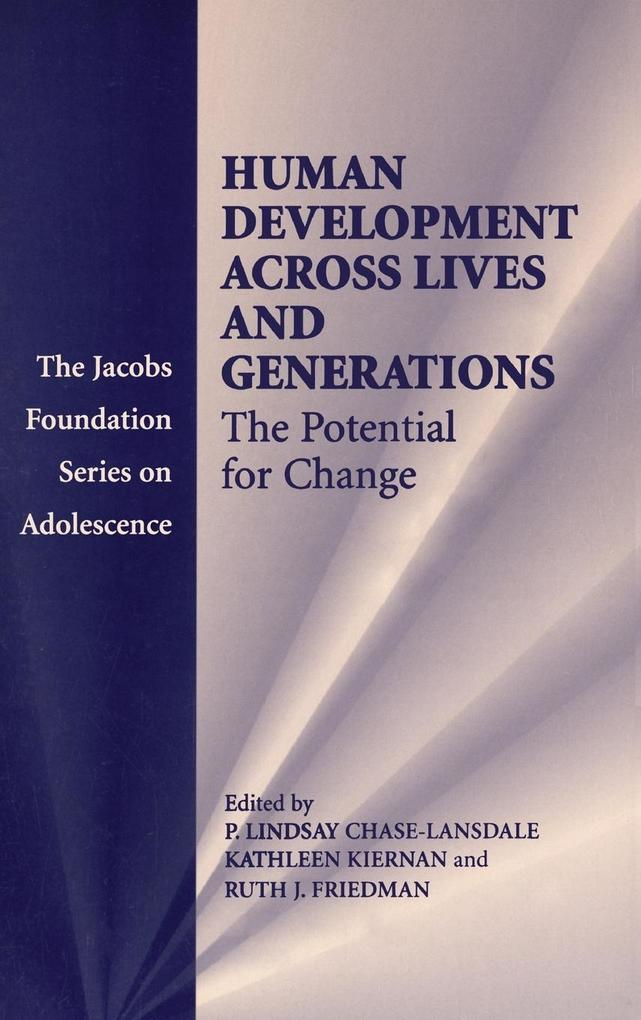 Human Development across Lives and       Generations