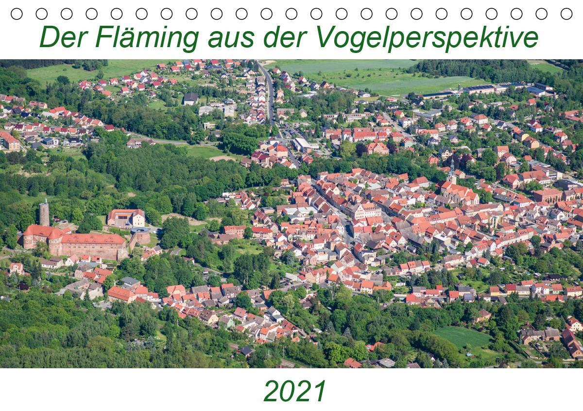 Der Fläming aus der Vogelperspektive (Tischkalender 2021 DIN A5 quer)