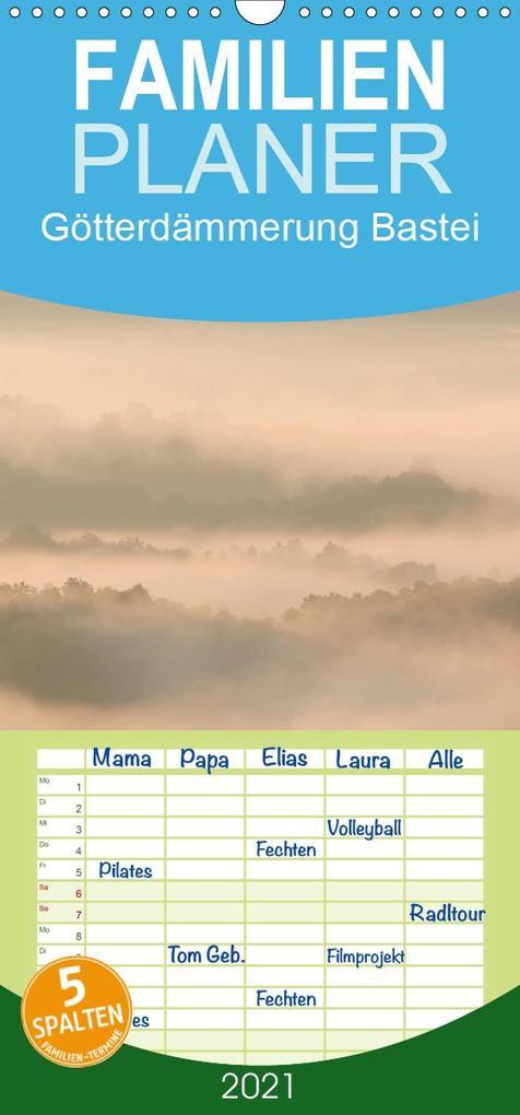 Götterdämmerung Bastei - Familienplaner hoch (Wandkalender 2021  21 cm x 45 cm hoch)