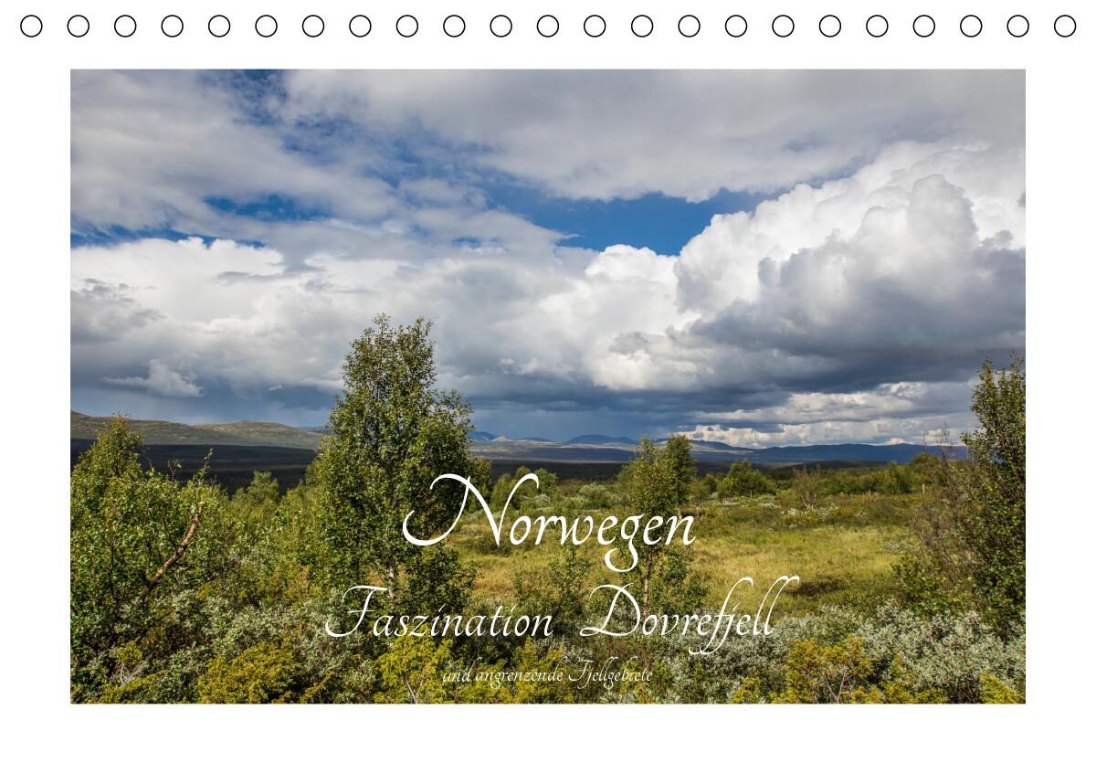 Norwegen - Faszination Dovrefjell und angrenzende Fjellgebiete (Tischkalender 2021 DIN A5 quer)