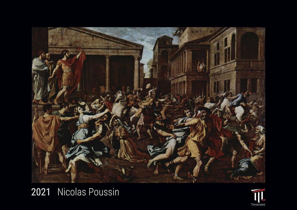 Nicolas Poussin 2021 - Edición Negra - Timokrates calendario de pared calendario de fotos - DIN A3 (42 x 30 cm)