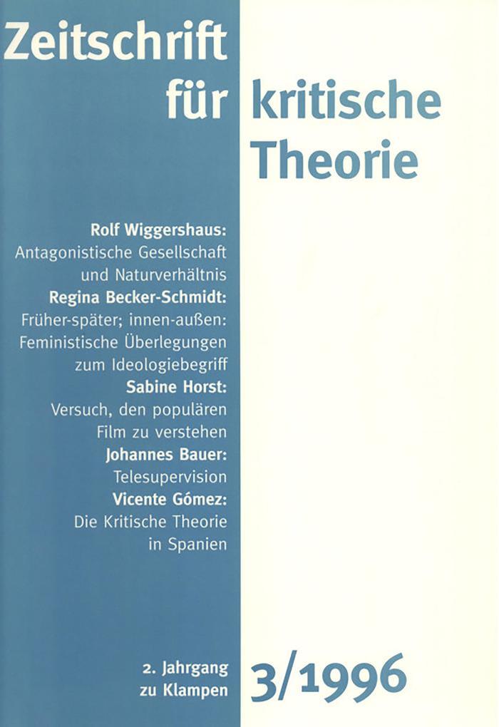 Zeitschrift für kritische Theorie / Zeitschrift für kritische Theorie, Heft 3 als eBook pdf