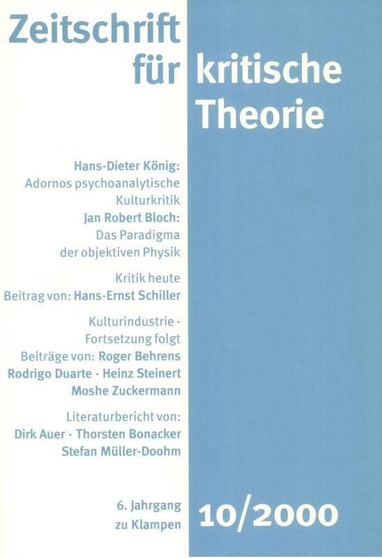 Zeitschrift für kritische Theorie / Zeitschrift für kritische Theorie, Heft 10 als eBook pdf