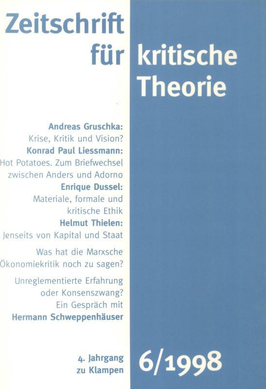 Zeitschrift für kritische Theorie / Zeitschrift für kritische Theorie Heft 6
