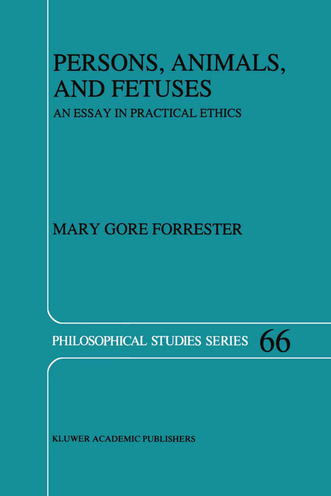 Persons, Animals, and Fetuses als Buch (gebunden)