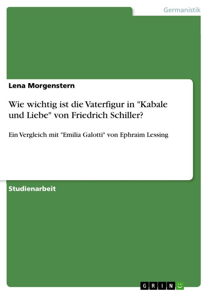 Wie wichtig ist die Vaterfigur in Kabale und Liebe von Friedrich Schiller?