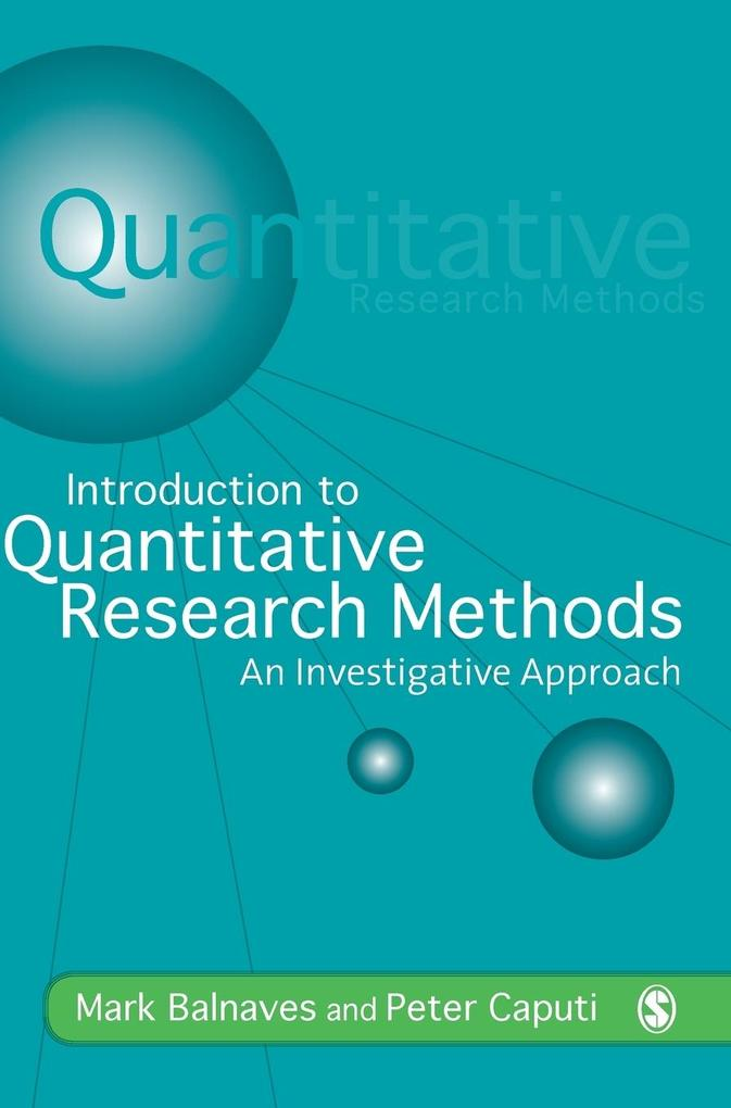 Introduction to Quantitative Research Methods