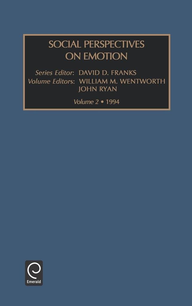 Social Perspectives on Emotions als Buch von Ryan Wentworth