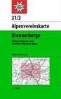 DAV Alpenvereinskarte 31/3 Brennerberge 1 : 50 000 Wegmarkierungen