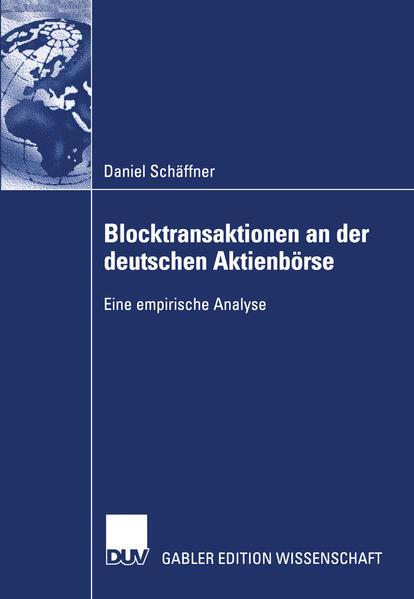 Blocktransaktionen an der deutschen Aktienbörse als Buch