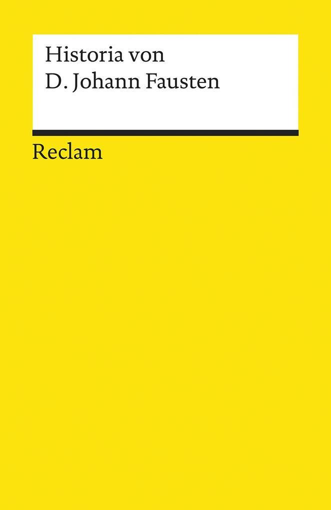 Historia von D. Johann Fausten als Taschenbuch von Richard Benz