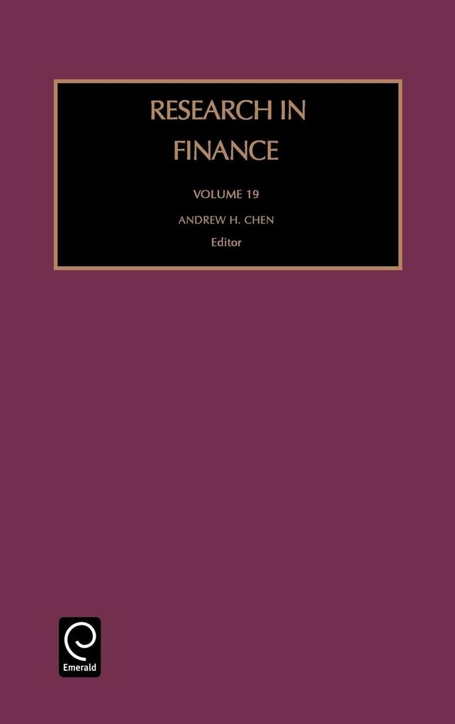Research in Finance Rfin19 H