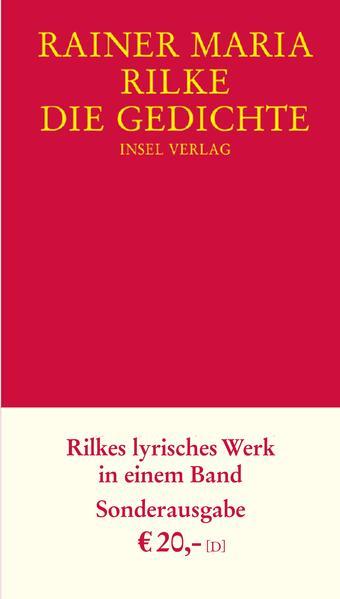 Die Gedichte als Buch von Rainer Maria Rilke