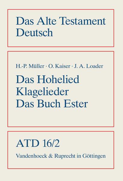 Das Hohe Lied / Klagelieder / Das Buch Esther a...