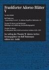 Frankfurter Adorno Blätter 5