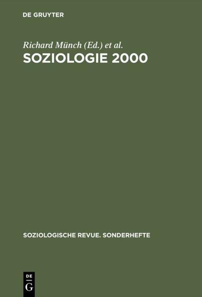 Soziologie 2000 als Buch von