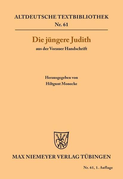 Die jüngere Judith aus der Vorauer Handschrift als Buch