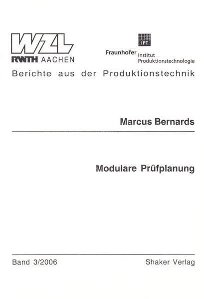 Modulare Prüfplanung als Buch von Marcus Bernards