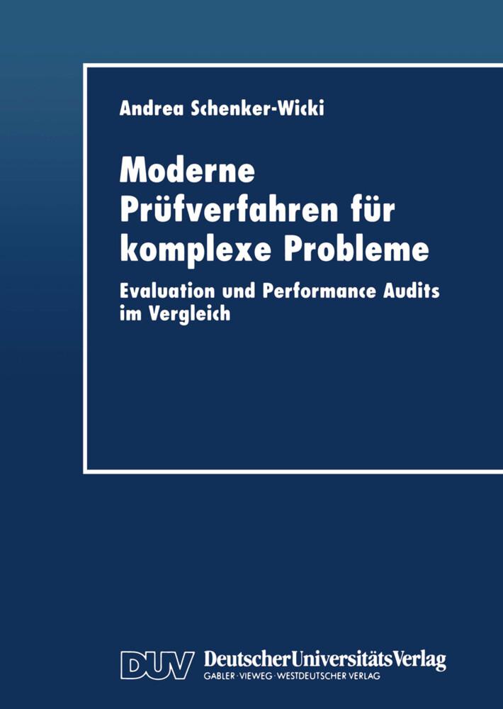 Moderne Prüfverfahren für komplexe Probleme als Buch von Andrea Schenker-Wicki