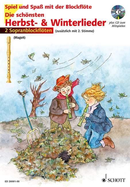 Die schönsten Herbst- und Winterlieder als Buch