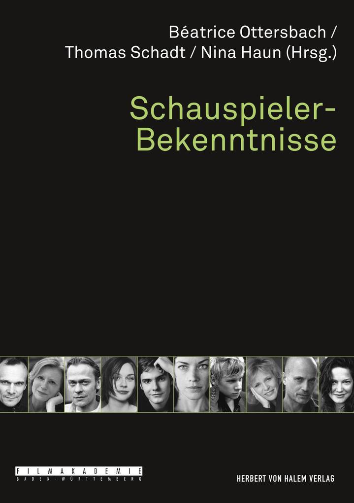 Schauspieler-Bekenntnisse als Buch