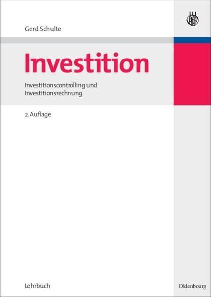 Investition als Buch (gebunden)