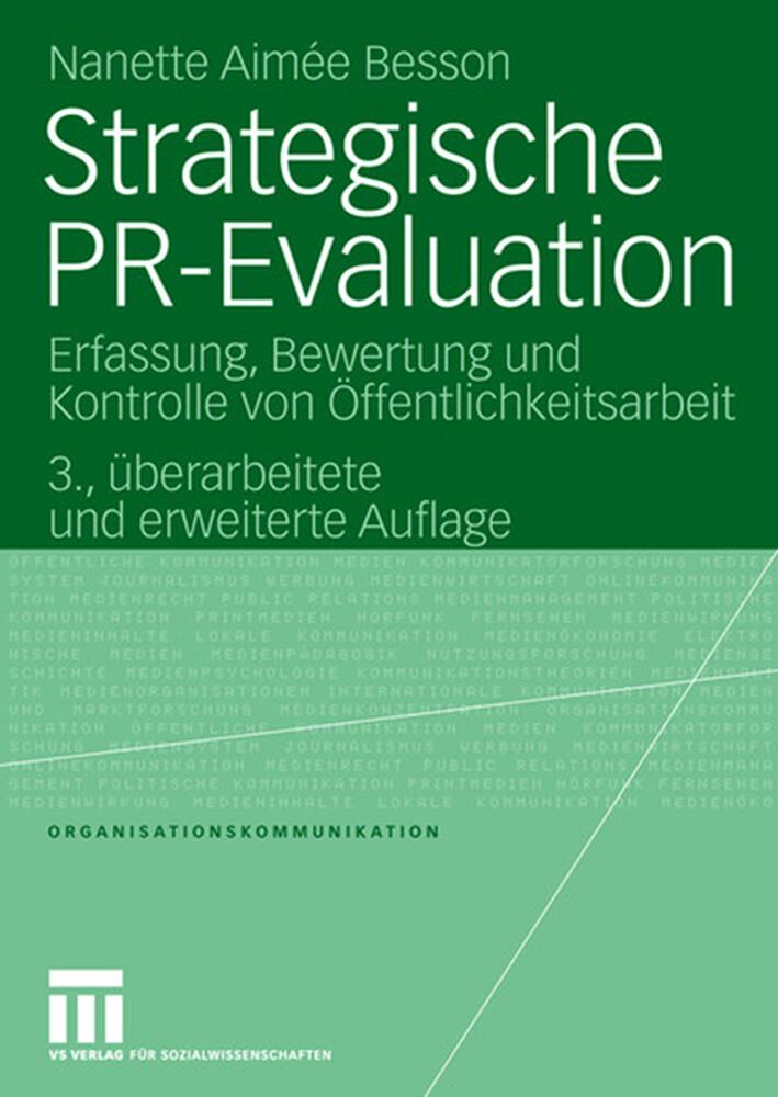 Strategische PR-Evaluation als Buch von Nanette Aimée Besson