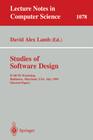 Studies of Software Design