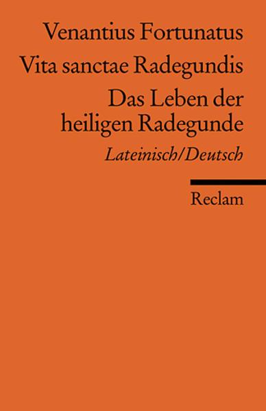 Vita sanctae Radegundis /Das Leben der heiligen Radegunde als Taschenbuch von Venantius