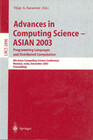 Advances in Computing Science - ASIAN 2003, Programming Languages and Distributed Computation