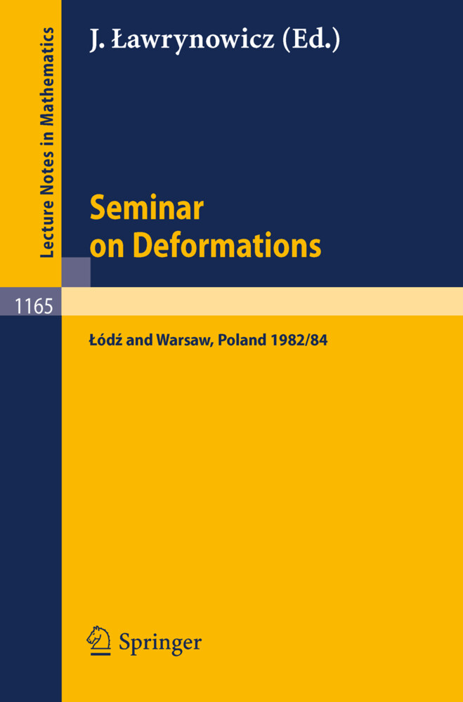 Seminar on Deformations als Buch