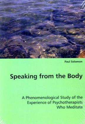 Speaking from the Body als Buch