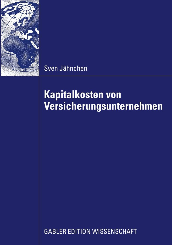 Kapitalkosten von Versicherungsunternehmen als Buch (kartoniert)