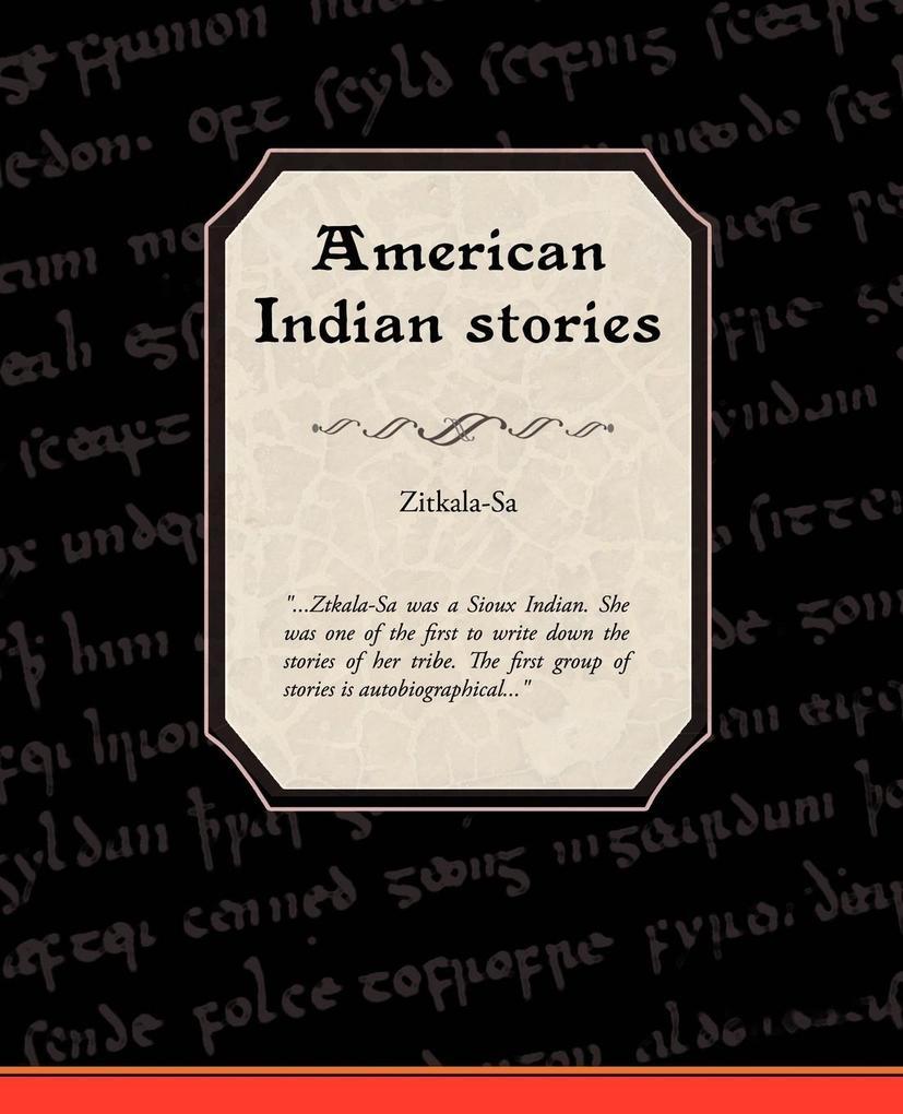 American Indian Stories als Taschenbuch