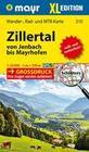 Zillertal XL von Jenbach bis Mayrhofen 1 : 25 000