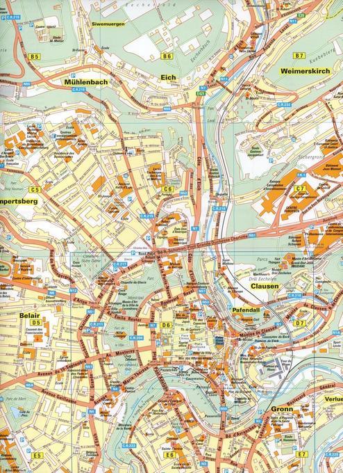 LUXEMBOURG STADTPLAN DOWNLOAD