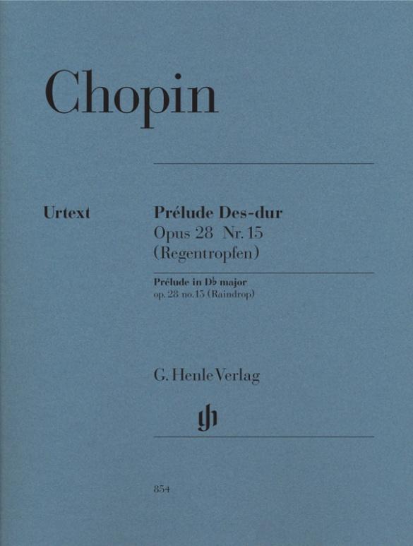 Prélude Des-dur op. 28 Nr. 15 (Regentropfen) als Buch von Frédéric Chopin