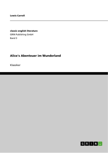 Alice's Abenteuer im Wunderland als Buch