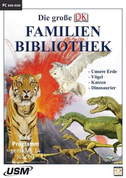 Die große Dorling Kindersley Familienbibliothek - Unsere Erde, Katzen, Vögel und Dinosaurier. Windows Vista; XP; 2000; 9