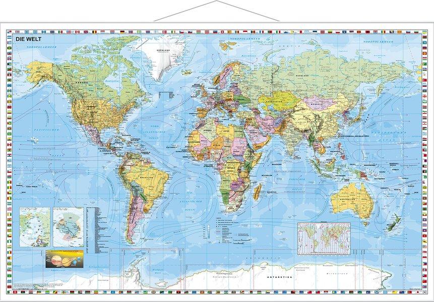 Weltkarte deutsch als Buch