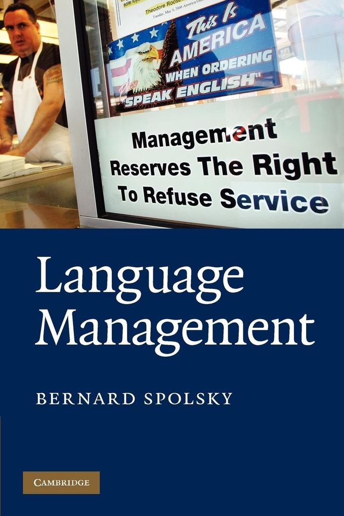 Language Management als Buch von Bernard Spolsky