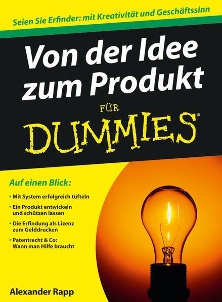 Von der Idee zum Produkt für Dummies als Buch (gebunden)